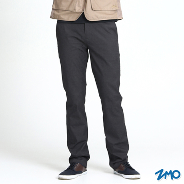 (ZMO)ZMO Men's Simple Casual Pants PG235-Black Grey