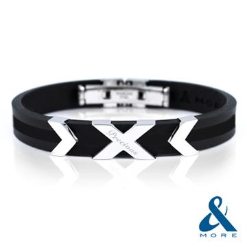 (&MORE)Focus Focus germanium titanium bracelet (Black)