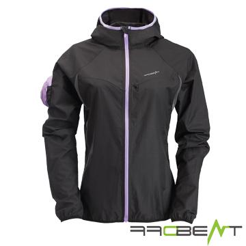 OFFBEAT female models lightweight Baotou anti-UV anti-wind income splash jacket - Ivory Black