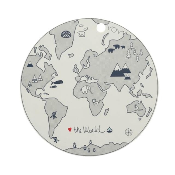 OYOY circular silicone mat / World Map