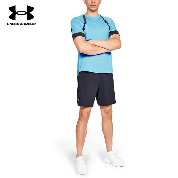 [UNDER ARMOUR] UA UA HexDelta male short-sleeved shirt (Aqua)