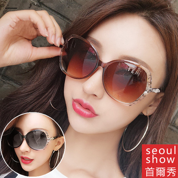 (Seoul Show)Seoul show Seoul show leaf edge layer transparent sunglasses UV400 sunglasses 8802