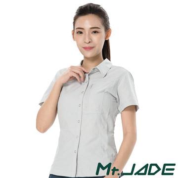 (Mt. JADE)MT Jade female models zero with a sense of FRIGG moisture management short-sleeved shirt - Potter Gray