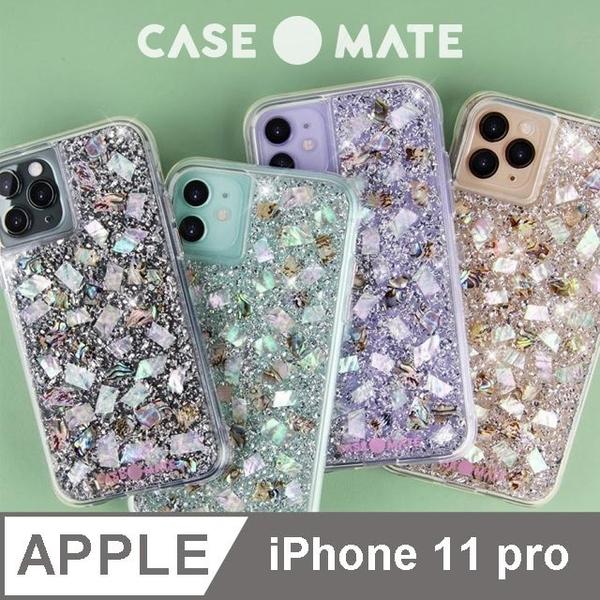(CASE-Mate)US Case-Mate iPhone 11 Pro Karat Pearl Shell Silver Foil Anti-fall Phone Case