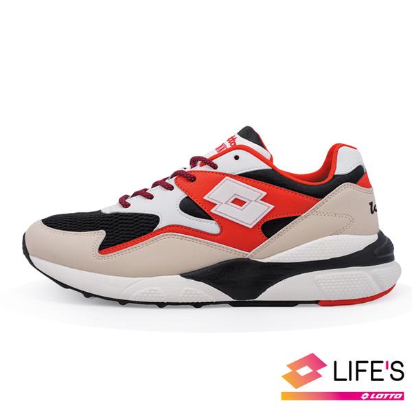 (lotto)[LOTTO Italy] Men's ATHLETICA SIRIUS Italian Retro Daddy Shoes (White Red)