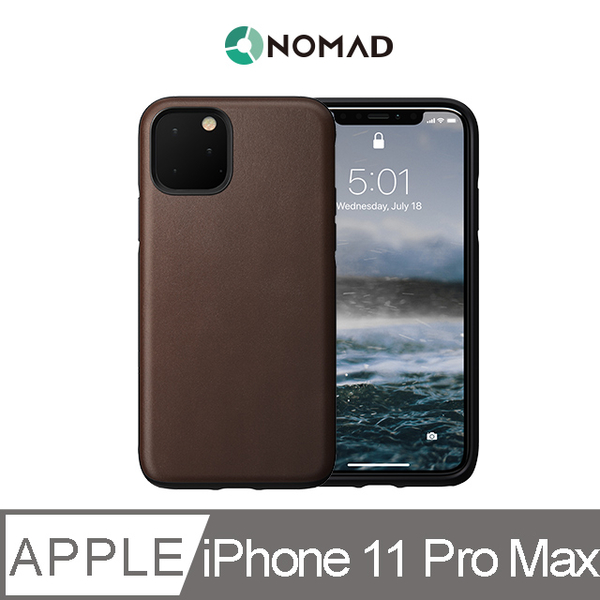 (NOMAD)American NOMAD Classic Leather Drop Protector - iPhone 11 Pro Max Brown
