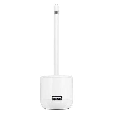 Pure White Elegant Apple Pencil Charging Storage Stand