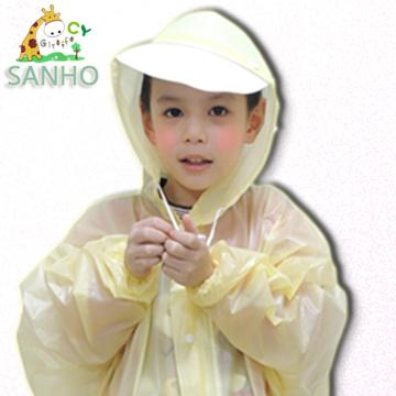 (三和牌)[Brand] giraffe and three children raincoat / yellow (M_130 ~ 139cm)