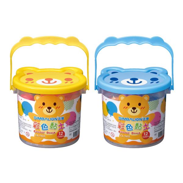 (雄獅)[Male Lion] CL-503 Color Clay 12 Colors (Blue and Yellow Two Randomly Shipped)