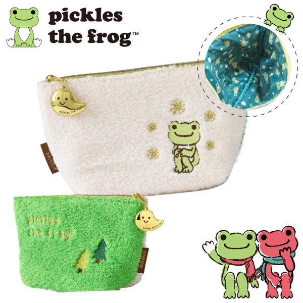 pickles the frog adorable frog embroidered pouch Olympic furry family