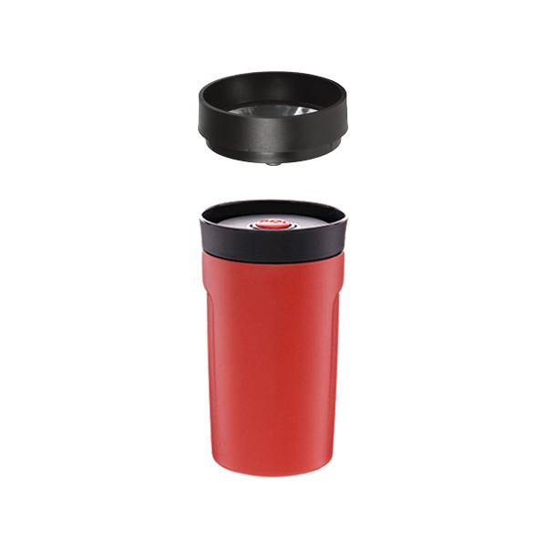 (PO:Selected)[PO: Selected] Danish 360 ° Drinking Thermal Coffee Cup 350ml (red)-with filter