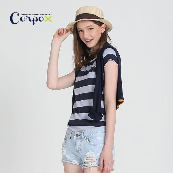 [Corpo X] female models permanent bacteriostatic Long T-shirt (deodorant) - Gray