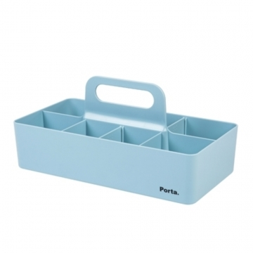 SYSMAX] [68020 Porta mint blue portable storage box stack may be pushed (large)
