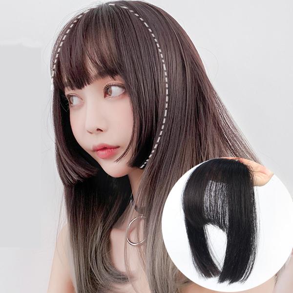 (狐狸姬)Fox Ji, princess Qi jellyfish cut the air bangs wig piece Liuhai (single hair-piece)
