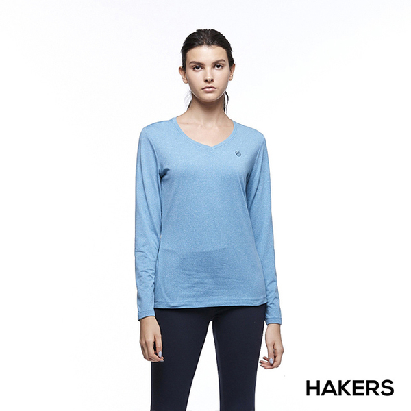 [Female] HAKERS Hake Shi warm V-neck sweat clothes (Venice Blue)