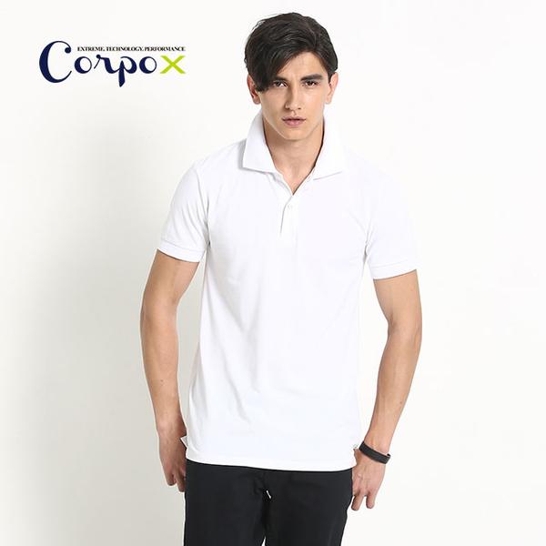 (corpo x)Men's Continuous Cool Polo Shirt-White