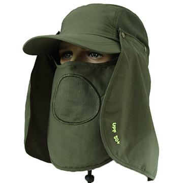 [360] Xavagear full protective anti-UV sun visor cap wicking drying fresh green