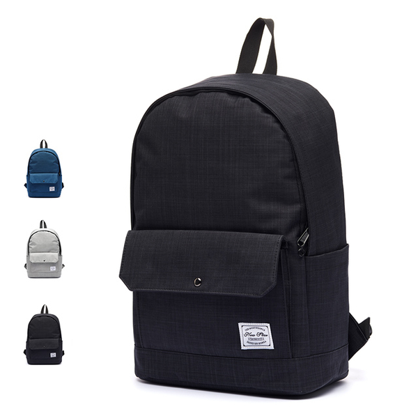 (NEW STAR)Simple texture casual waterproof pocket backpack bag laptop bag computer bag NEW STAR BK289