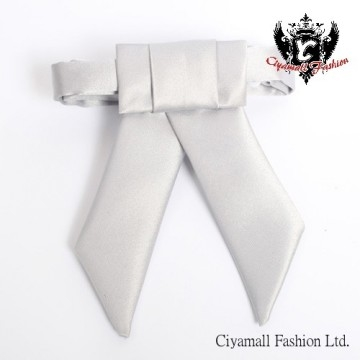 (Ciyamall)The classic gentleman dovetail bow tie ★ Ciyamall from elegant clothes flow the ★ ☆ 3B020 ☆ - bright silver gray