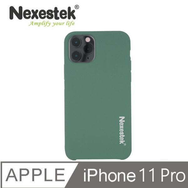 Nexestek iPhone 11Pro Liquid Silicone case dark green