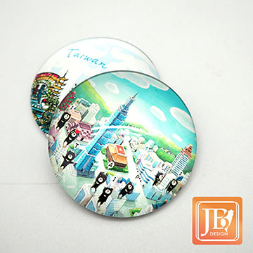 JB DESIGN- cultural and creative glass magnet -723_ bear the love of running