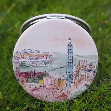 JB Design PU portable round mirror - Popular Taiwan attractions