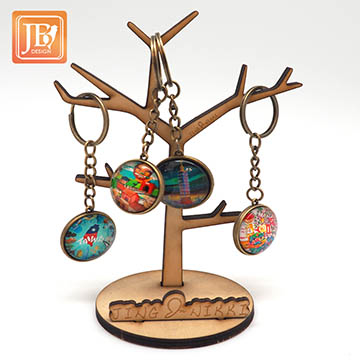 (JB DESIGN)JB DESIGN-Customized cultural and creative glass key ring