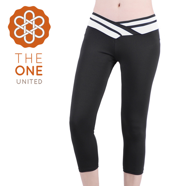 [The One] soft elastic modeling spell color seven yoga pants / sweat pants - White