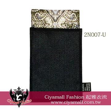 (Ciyamall)Gentleman suit pocket towel - (square top) -2N007-U black