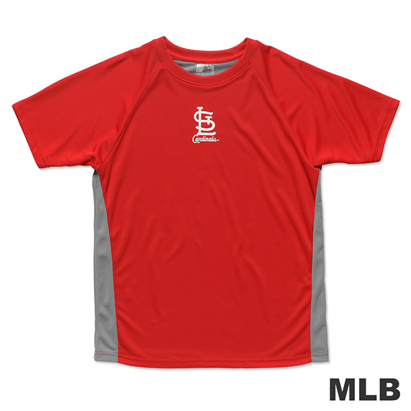 MLB- St. Louis Cardinals hit the color Slim fast row Lackland T-Shirt - Red (Male)