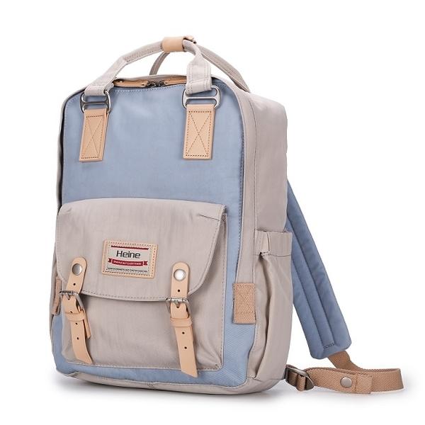 (Heine)Heine WIN-191 Multi-Purpose Mother Bag Backpack-Ivory Light Blue