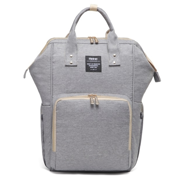 (Heine)Heine WIN-182 Multi-Purpose Mother Pocket Backpack-Classic Grey