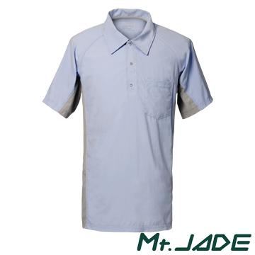 (Mt. JADE)Mt. JADE Ac'Dry men Akhillia wicking short-sleeved POLO shirt - light blue