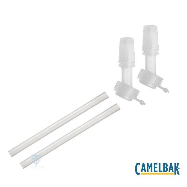 (camelbak)[American CamelBak] CB2298101000-eddy + children series mouthpiece straw set (including 2 mouthpieces and 2 straws) white