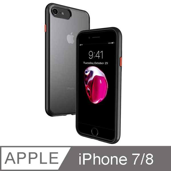 Impact Resistant Back Cover Case for iPhone 7/8 (Black)