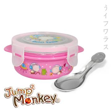 (一品川流)Jumping monkey ears Lock stainless steel soup - pink