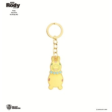 Rody-002 jumping horse key ring 02 pink paragraph