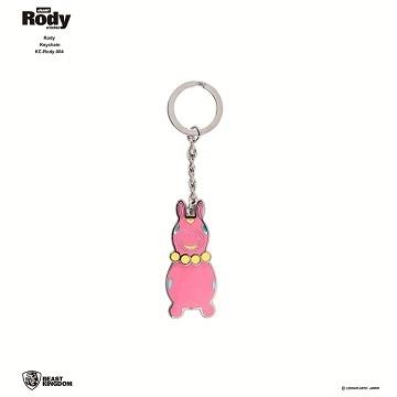 Rody-004 jumping horse key ring 04 pink models