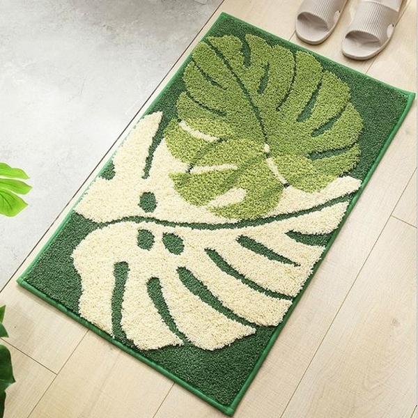 Forest-based water-absorbing carpet mat non-slip mat bathroom entrance bedroom door mat 50 * 80cm leaves autumn