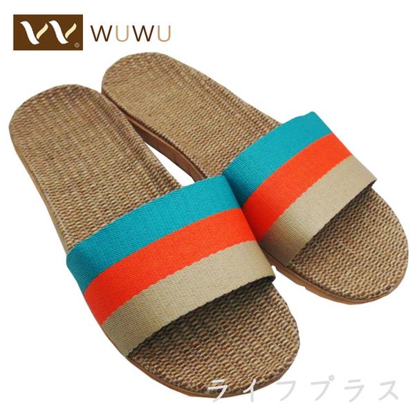 (一品川流)Cool summer linen slippers-female-green-37 ~ 38