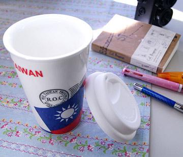 """โบนัส """"JB DESIGN"""" จำนวน จำกัด ! Taiwan Flag Bag ~ Love Taiwan Series_Taiwan Flag Ceramic Cup"""
