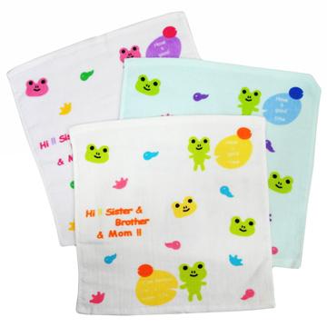 (一品川流)Cartoon square scarf - frog - 2
