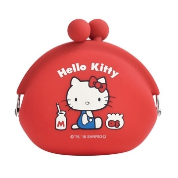 "[Little Auditorium] Hello Kitty Silicone Gold Coin Purse ""Red"" Headphone Bag. Storage Bag. P + g design"