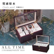 │เวลาที่สมบูรณ์│กล่องนาฬิกาคอลเลคชั่นที่สวยงาม ~ [กล่องบันทึกพื้นผิว 22 แพ็ค] กล่องเก็บกาแฟลิ้นชักของขวัญความจุสูง (กล่องไม้ 08-1)