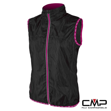 (CMP)[CMP] Italian lightweight breathable function can be incorporated Vest - Women (Black)
