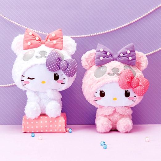 FuRyu Fluffy Doll 33cm HELLO KITTY Panda Dress Up