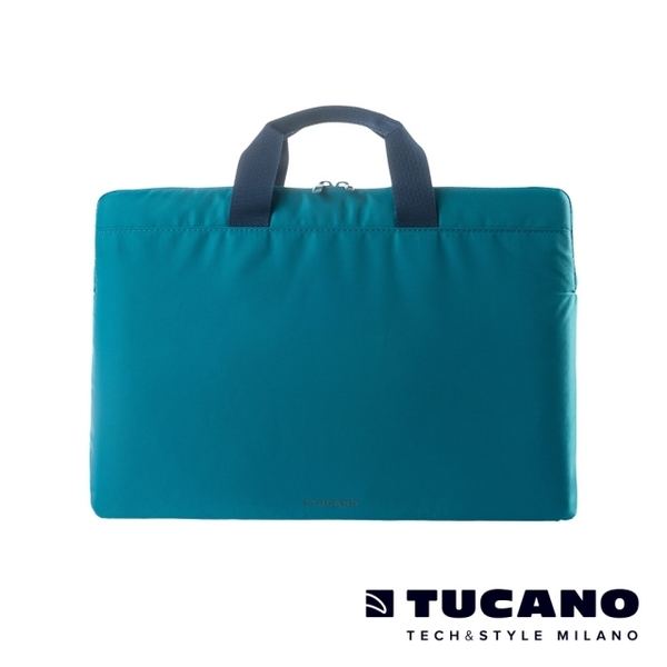 (TUCANO)TUCANO MINILUX Miniature Lightweight Nylon Handbag 13-14 inch (back side) - Blue