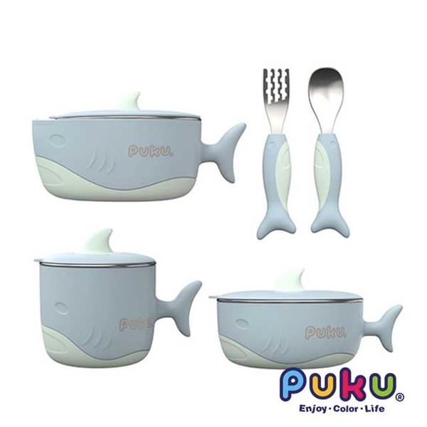 "(PUKU)""PUKU"" Shark Water Insulation Tableware Five Piece Set _ Water Blue"