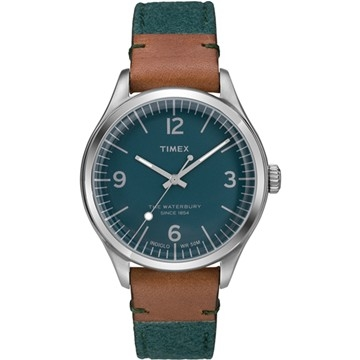 (TIMEX)[TIMEX] days of the United States Waterbury City Fashion Watch (green / coffee TXT2P95700)