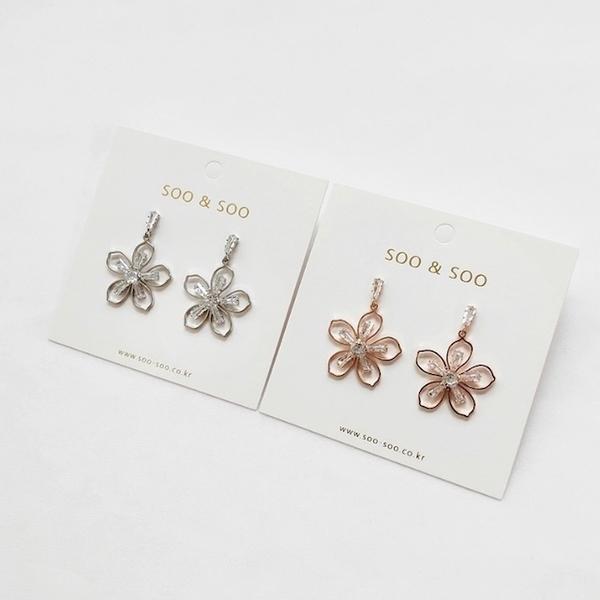 (SOO&SOO)[HUAYUE] SOO & SOO Crystal Flower Earrings